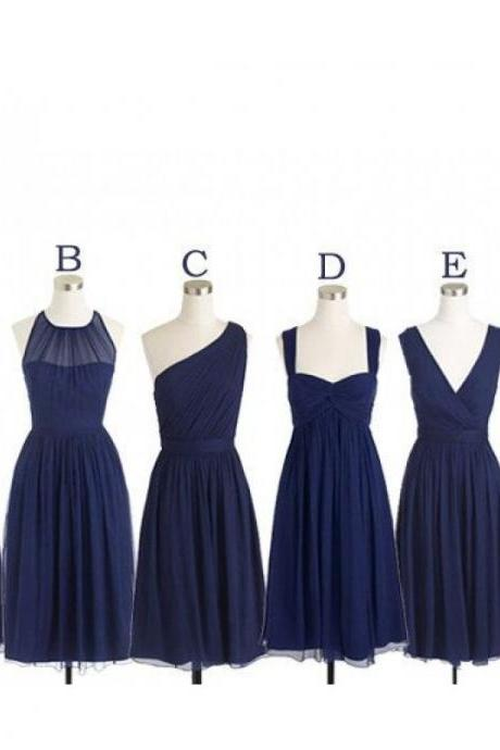 Navy bridesmaid dresses, cheap bridesmaid dresses, chiffon bridesmaid dresses,long bridesmaid dress, Custom bridesmaid dresses,