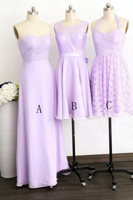 Purple Bridesmaid Dress, Long Bridesmaid Dress, Short Bridesmaid Dress, Cheap Bridesmaid Dress, Mismatched Bridesmaid Dresses, Lace Bridesmaid Dress, Custom Bridesmaid Dress,