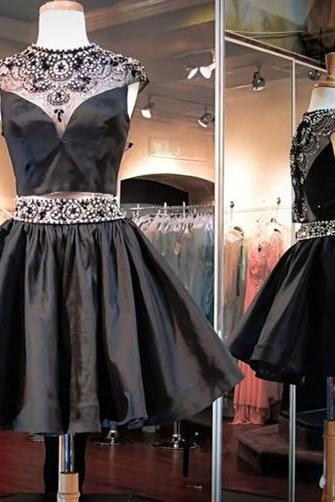 Homecoming Dress,Short Prom Gown,Black Homecoming Gowns,Sweet 16 Dress,Elegant Homecoming Dresses,Short Evening Dress