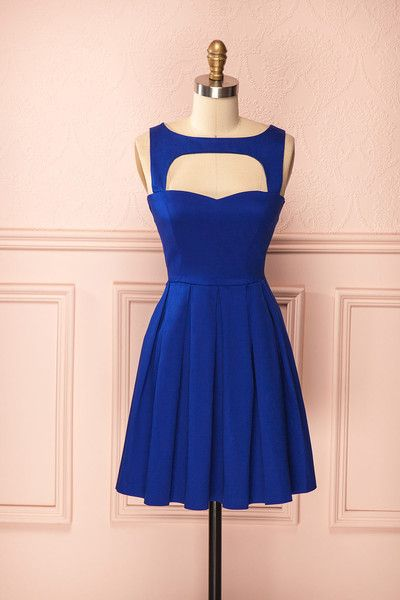 Cheap Homecoming Dresses 2017 Vintage Prom Dress, Royal Blue Prom Gowns, Mini Short Homecoming Dress