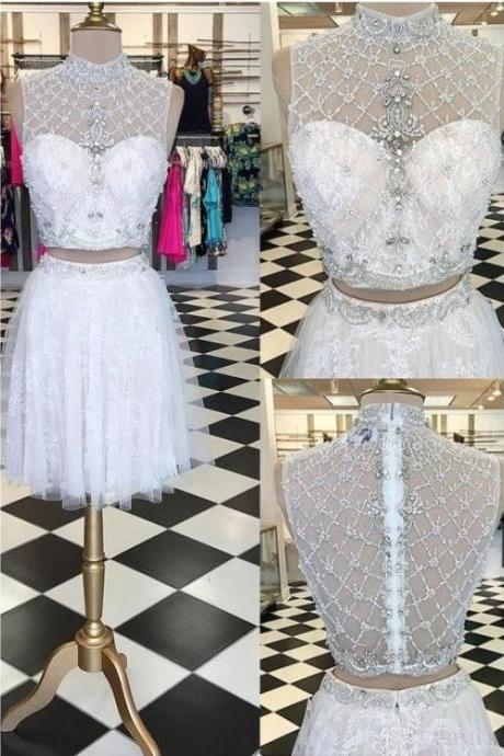 Cheap homecoming dresses 2017,Two Pieces Homecoming Dress,Short Prom Dresses,Cocktail Dress,Homecoming Dress,Graduation Dress,Party Dress,Short Homecoming Dress