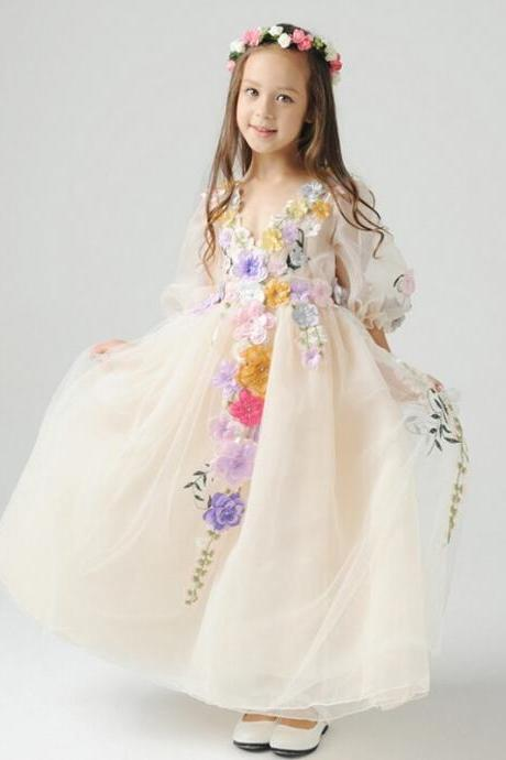Flower girl dress,pretty flower girl dress, charming flower girl dresses.princess flower girl dress,girls party dresses, girls christmas dresses, 2017 flower girl dress, girls first communion dress, junior bridesmaid dress,girls wedding party dress,girls pageant dress