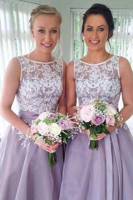 short bridesmaid dresses, a line bridesmaid dresses, scoop bridesmaid dresses, bridesmaid dress, 2017 bridesmaid dress