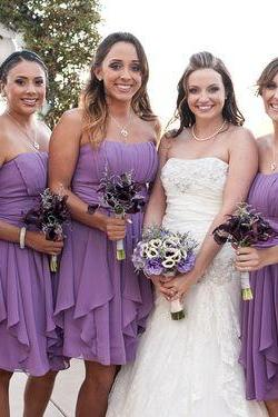 Short Bridesmaid Dress,Irregular Bridesmaid Dress,Simple Bridesmaid Dress,Cheap Bridesmaid Dress,Popular Bridesmaid Dress