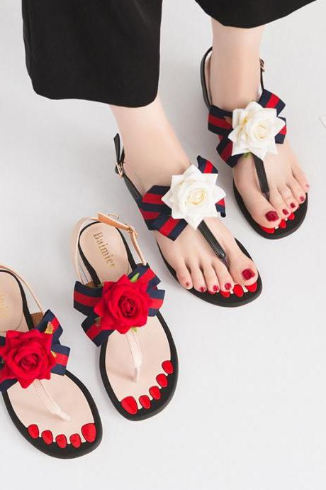 new arrivals rose flower all-match comfortable women shoes