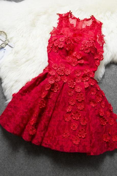Cheap homecoming dresses 2017 ,Temperament Decals Princess Dress