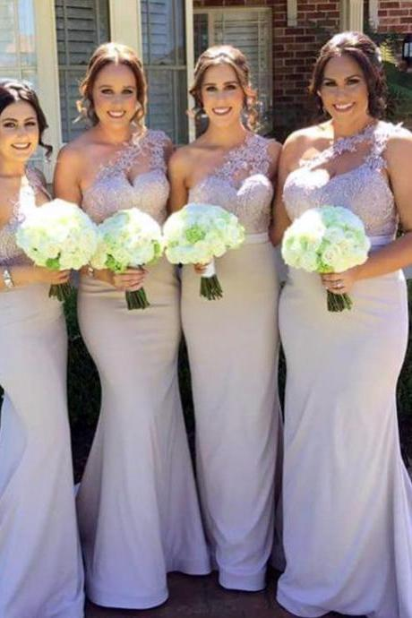 one shoulder bridesmaid dresses,silver bridesmaid dress,light blue bridesmaid dress,chiffon bridesmaid dresses
