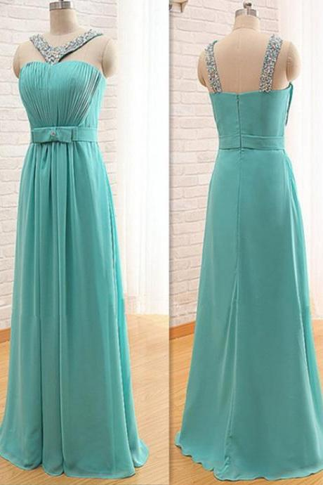 New Arrival Chiffon Bridesmaid Dresses ,Halter Floor-Length Bridesmaid Dresses, Bridesmaid Dresses ,Real Made Bridesmaid Dress, With Sashes Bridesmaid Dresses For Wedding