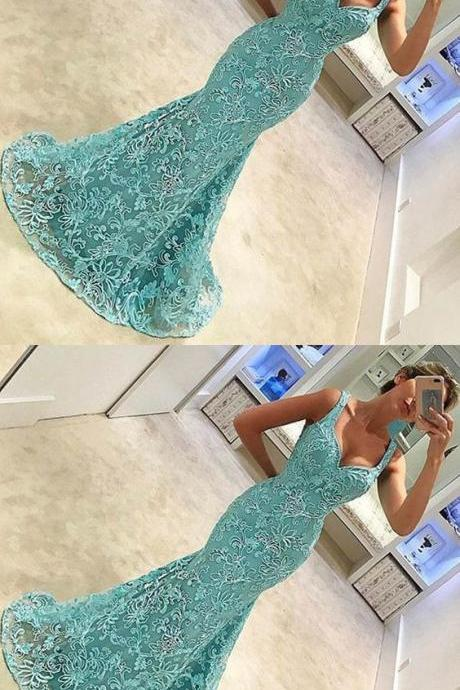 Cheap homecoming dresses 2017,lace mermaid prom dresses, mermaid prom dresses with straps, long prom dresses for women, women's prom dresses for prty, straps prom gowns