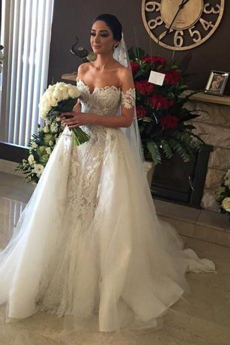 Cheap wedding dresses 2017,New Ball Gown Lace Wedding Dresses Custom Made Princess Wedding Gown High Quality Luxurious Bridal Wedding Gown 100% Real Photo