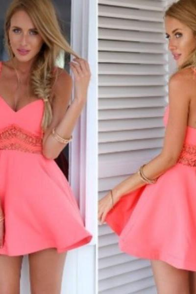 Cheap homecoming dresses 2017,Backless Prom Dress,Spaghetti Prom Dress,Mini Prom Dress,Fashion Prom Dress,Sexy Party Dress, New Style Evening Dress