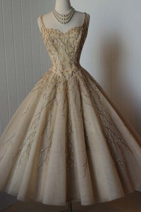 Cheap homecoming dresses 2017,Vintage Prom Dress, Grey Prom Dress, Beading Crystals Homecoming Dress, Tulle Homecoming Gown