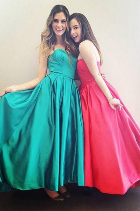 Cheap prom dresses 2017,Prom Dress,Sexy Elegant Prom Dresses, Sexy Strapless Prom Dresses,Sleeveless Prom Dress,A Line Evening Dress,Elegant Prom Gown