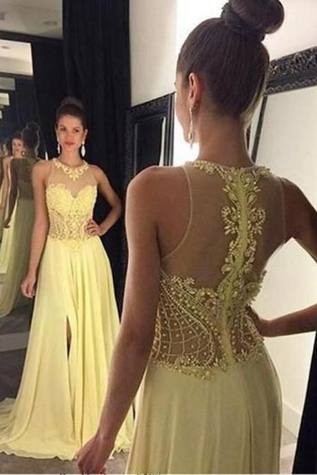 Cheap prom dresses 2017,New 2017 O-Neck Beading Pearls A-Line Prom Dresses, Appliques Lace Off Shoulder Evening Dress,See Through Back Prom Dresses