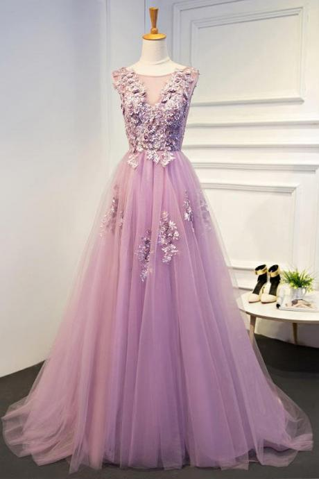 Cheap prom dresses 2017,Charming Prom Dress, Tulle Prom Dresses,Appliques Homecoming Dress,Beaded Graduation Dress,Sleeveless Evening Dress