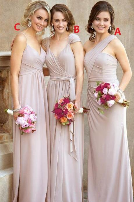 Cheap bridesmaid dresses 2017,Hot Sale Charming Pleated Prom Dress,Long Prom Dress,Fashion Bridesmaid Dress,Sexy Party Dress, New Style