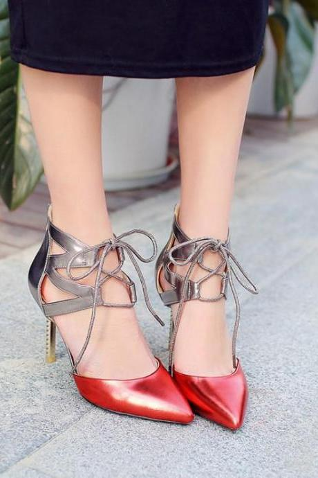 Women's Pointed Toe Stiletto Pump Sandals