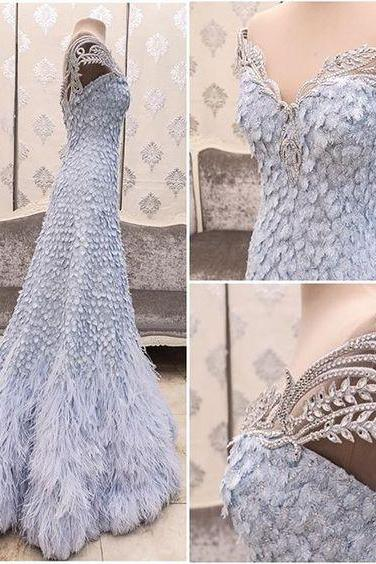Cheap wedding dresses 2017,New Arrival Prom Dress,Modest Prom Dress,Flower wedding dress,blue wedding dress,light blue wedding dress,wedding dress