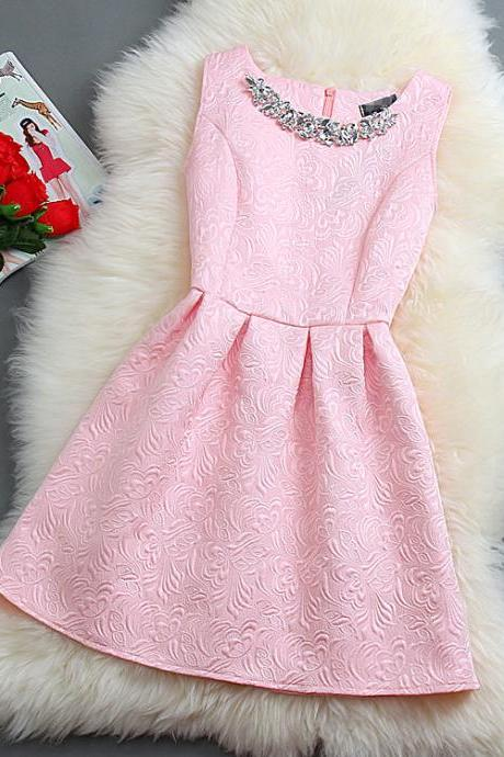 Spring and Autumn summer skirt sleeveless dress small fragrant wind