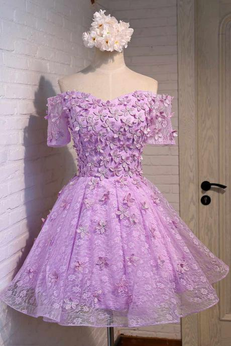 Cheap homecoming dresses 2017,Purple Homecoming Dress, Short Homecoming Dress, Lace Homecoming Dress, 2017 Homecoming Dress, Cheap Homecoming Dress, Half Sleeve Prom Dress, Prom Dresses 2017