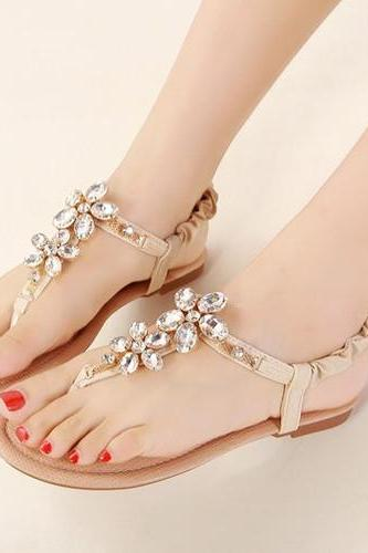 Floral Diamond Design Sandals in Pink and Apricot