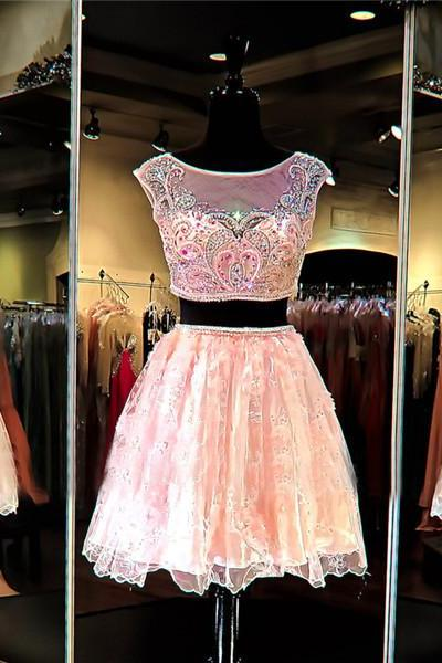 Cheap homecoming dresses 2017,2 Piece Prom Dress,Short Prom Dress,Junior Prom Dress,Cheap Prom Dress,Prom Dress 2017,Pink Prom Dress, Sexy Prom Dress, Pink Homecoming Dress, 8th Grade Prom Dress,Holiday Dress,Pink Evening Dress, Short Evening Dress,Formal Dress, 2 Piece Homecoming Dresses, Graduation Dress, Cocktail Dress, Party Dress