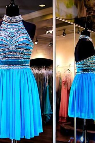 Cheap homecoming dresses 2017,Charming Prom Dress,New Prom Dress, Blue Homecoming Dress,Prom Gown,Short Party Dress