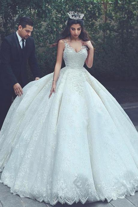 Cheap wedding dresses 2017,lace wedding gowns,princess wedding dress,ball gowns wedding dress,vintage wedding dress,wedding dresses 2017