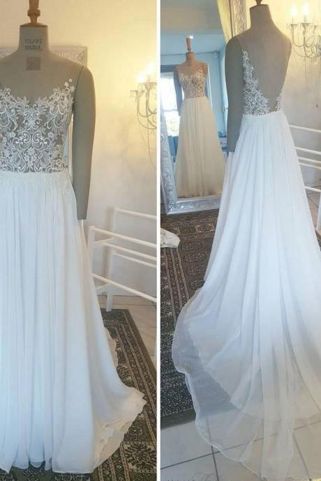 Cheap wedding dresses 2017,A-line Princess Appliqued Lace Sweep Train Prom Dresses V-neck wedding Dresses