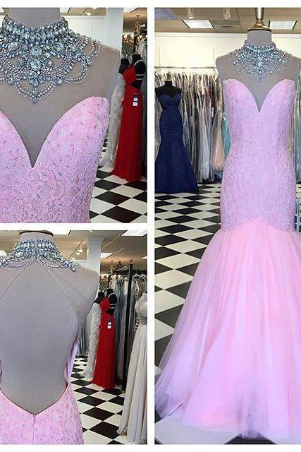 Cheap prom dresses 2017,Prom Gown,Pink Prom Dresses,Sparkle Evening Gowns,Mermaid Formal Dresses