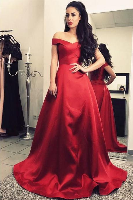 Cheap prom dresses 2017,Off Shoulder Prom Dress,Long Evening Gowns,,Burgundy Prom Dress,Satin Bridesmaid Dresses