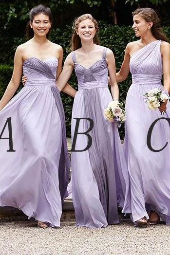 long bridesmaid dress, bridesmaid dress, chiffon bridesmaid dress,