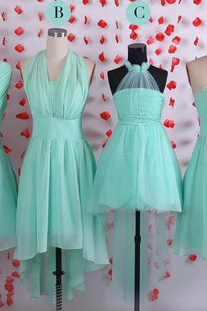 Simple bridesmaid dresses, Mint bridesmaid dress, Short chiffon bridesmaid dresses,