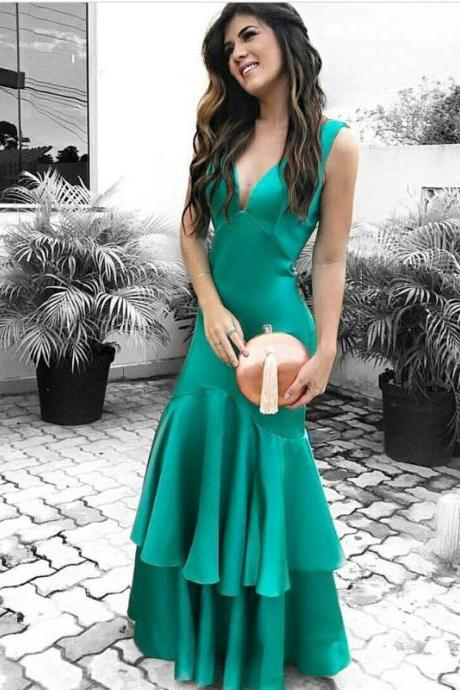 Cheap prom dresses 2017,Gorgeous Mermaid Long Green Prom Dress Evening Dress