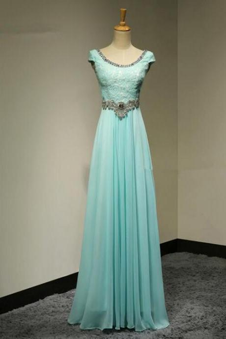 Beaded Bridesmaid Dresses Long Chiffon