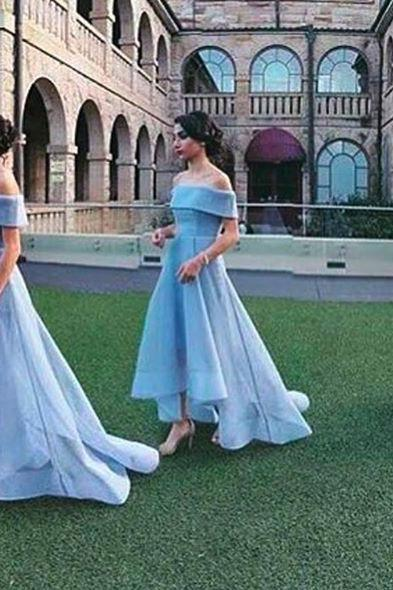 Baby Blue Ball Gown Bridesmaid Dresses 2017 Straplss Sleeveless Bridesmaid Gowns
