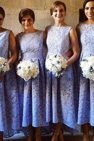 Lace Mermaid Bridesmaid Dresses 2017 Long Scoop Elegant Cheap Lace