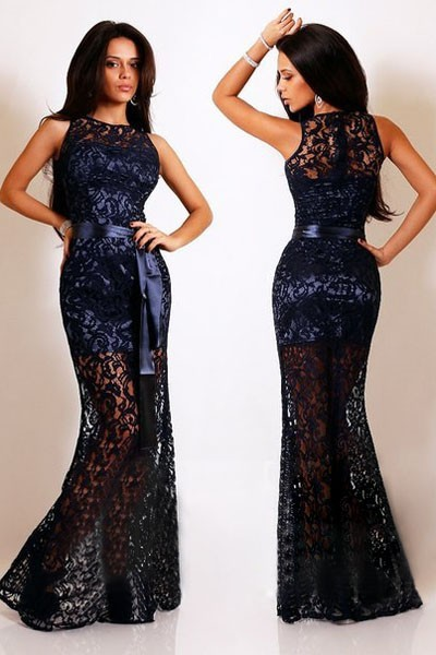 EVENING DRESS LACE 4 COLOR