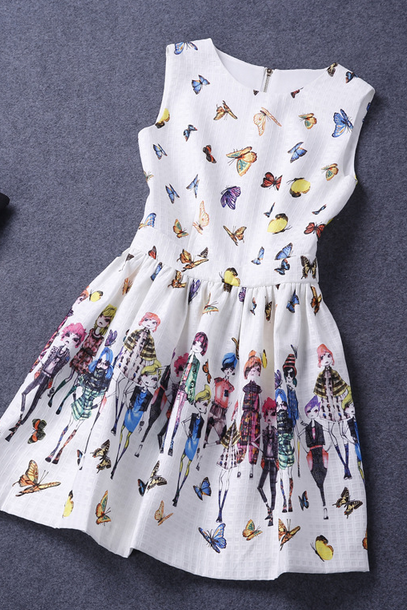Printed Sleeveless Dress