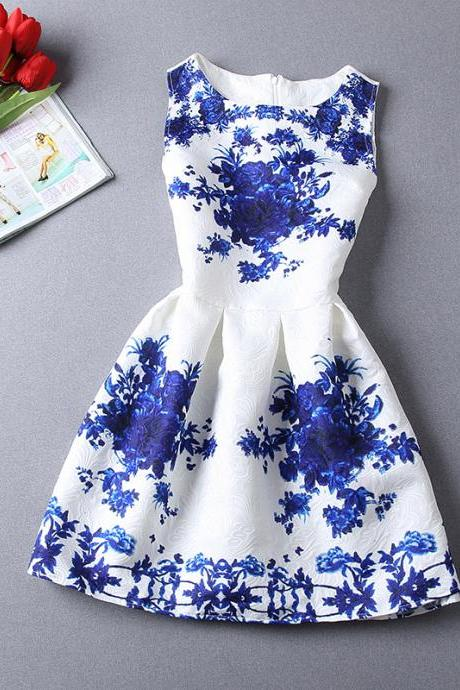 Porcelain Print Dress