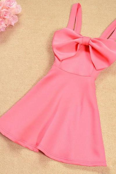 Big bow dress sexy fashion princess dress