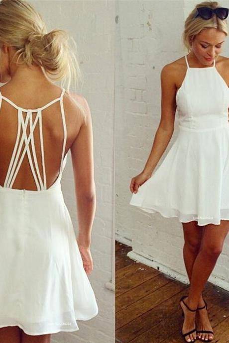 Fashion sexy halter chiffon dress hollow