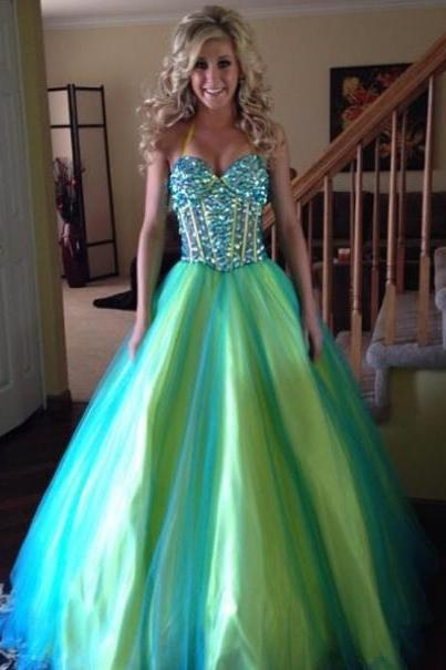 Cheap prom dress 2017,2017 Long Ball Gown For Prom Large size Prom Dress