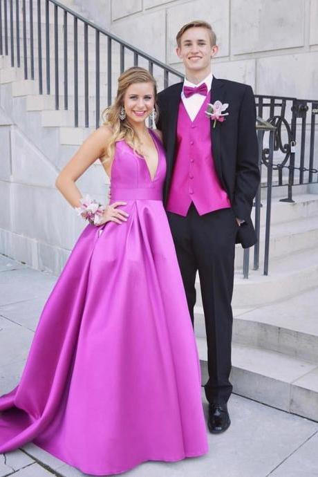 Charming Prom Dress, A Line Evening Dresses, Sleeveless Prom Dress,Long Prom Dresses