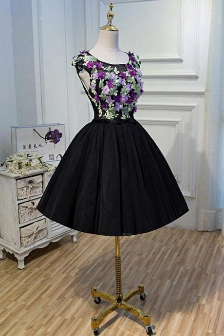 Short Homecoming Dress, Tulle Homecoming Dress, Open-Back Homecoming Dress, Lace Junior School Dress