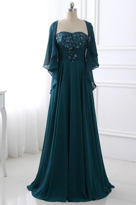 Stylish 2017 Women Elegant Chiffon Long A-Line Mother of the Bride Dresses