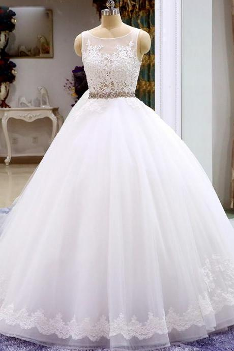 Wedding Dress,Wedding Gown,Bridal Gown,Bride Dresses, Long Wedding Dresses, Ball Gown Wedding Dress
