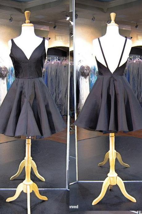 Little Black Dress Short Homecoming Party Gowns