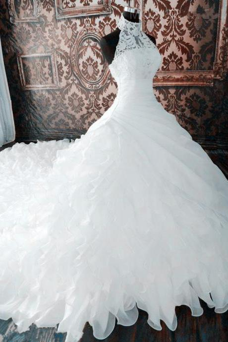 A Line Wedding Dresses Ball Gown Wedding Dresses Halter Wedding Dresses