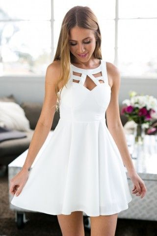 2017 Homecoming Dresses,A-line Homecoming Dresses,Little White Dresses,Short Prom Dresses